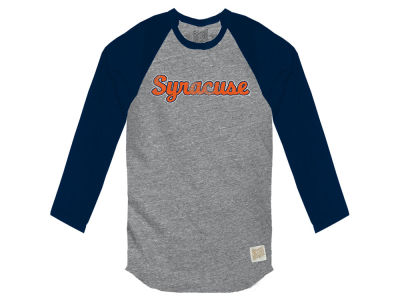 Syracuse Orange Retro Brand NCAA Men's Color Block Long Sleeve T-Shirt