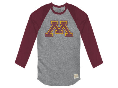 Minnesota Golden Gophers Retro Brand NCAA Men's Color Block Long Sleeve T-Shirt