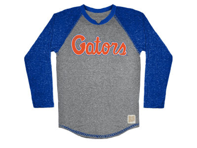 Florida Gators Retro Brand NCAA Men's Color Block Long Sleeve T-Shirt