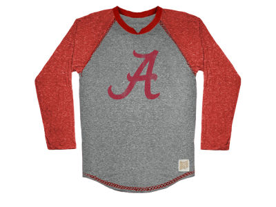 Alabama Crimson Tide Retro Brand NCAA Men's Color Block Long Sleeve T-Shirt