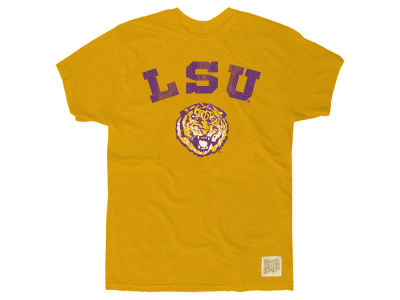 LSU Tigers Retro Brand NCAA Men's Slub Vault Logo T-Shirt