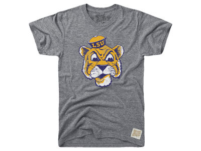 LSU Tigers Retro Brand NCAA Men's Tri-Blend Vault Logo T-Shirt