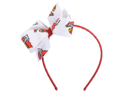 Louisville Cardinals Wrapped Headband with Jr Bow