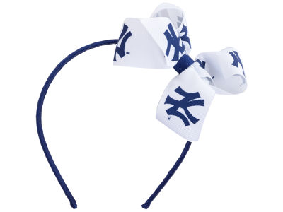 New York Yankees Wrapped Headband with Jr Bow