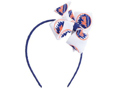 New York Mets Wrapped Headband with Jr Bow