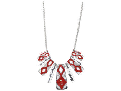 Oklahoma Sooners Aztec Statement Necklace