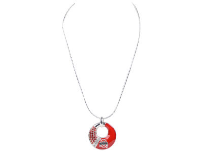 Ohio State Buckeyes Enamel Rhinestone Necklace