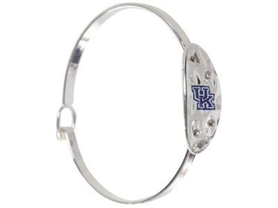 Kentucky Wildcats Hammered Oval Bangle Bracelet