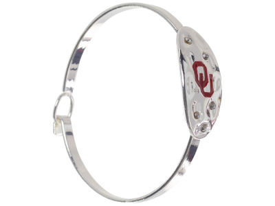 Oklahoma Sooners Hammered Oval Bangle Bracelet