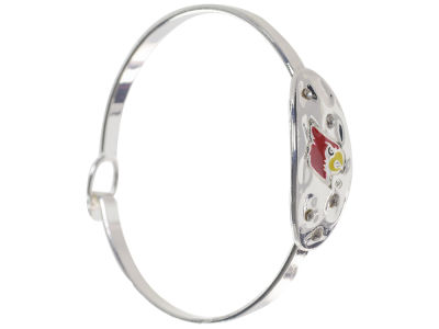 Louisville Cardinals Hammered Oval Bangle Bracelet