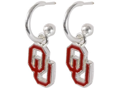 Oklahoma Sooners Small Logo Dangle Earrings