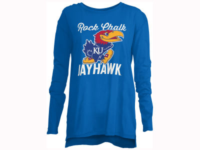Kansas Jayhawks Pressbox NCAA Women's Noelle Long Sleeve T-Shirt