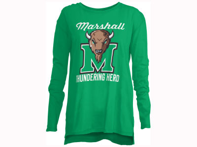 Marshall Thundering Herd Pressbox NCAA Women's Noelle Long Sleeve T-Shirt