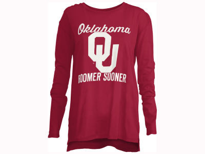 Oklahoma Sooners Pressbox NCAA Women's Noelle Long Sleeve T-Shirt