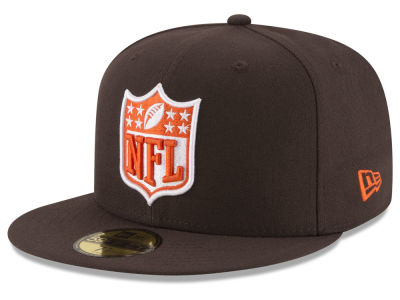 Cleveland Browns New Era NFL Team Shield 59FIFTY Cap