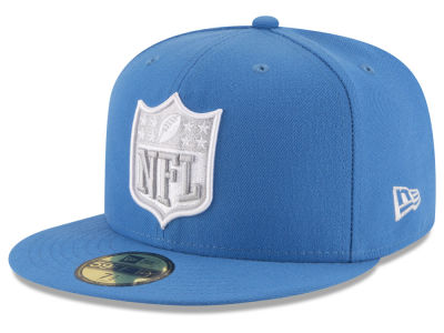 Detroit Lions New Era NFL Team Shield 59FIFTY Cap