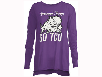 Texas Christian Horned Frogs Pressbox NCAA Women's Noelle Long Sleeve T-Shirt