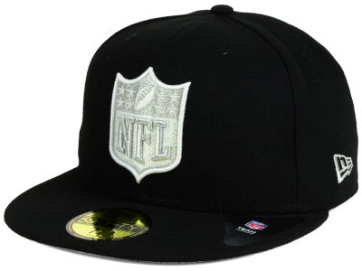 Oakland Raiders New Era NFL Team Shield 59FIFTY Cap
