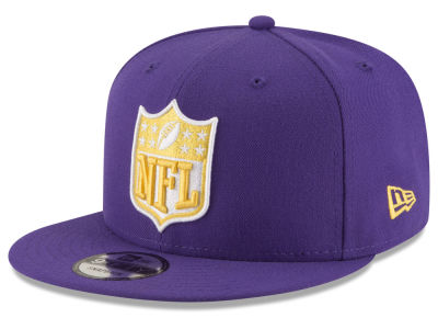 Minnesota Vikings New Era NFL Team Shield 9FIFTY Snapback Cap