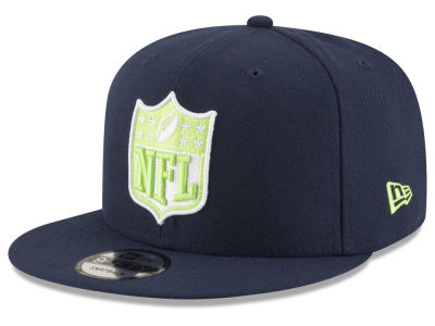 Seattle Seahawks New Era NFL Team Shield 9FIFTY Snapback Cap