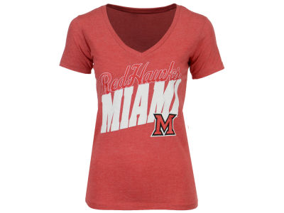 Miami (Ohio) Redhawks Pressbox NCAA Women's Gander T-Shirt