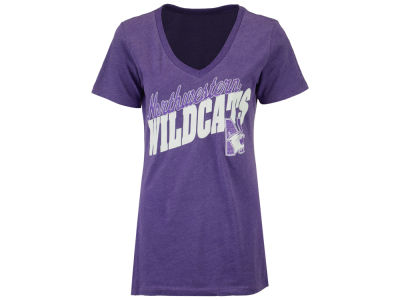 Northwestern Wildcats Pressbox NCAA Women's Gander T-Shirt