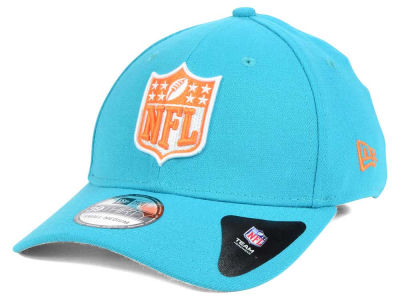 Miami Dolphins New Era NFL Team Shield 39THIRTY Cap