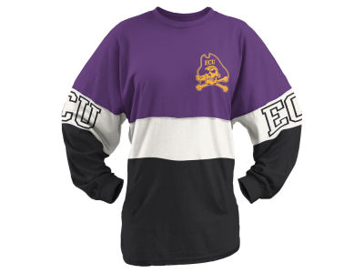 East Carolina Pirates Pressbox NCAA Women's Clarity Sweeper T-Shirt
