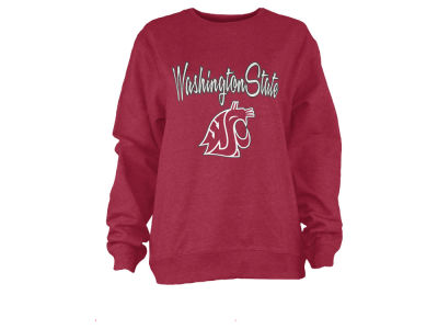 Washington State Cougars Pressbox NCAA Women's Pigment Dye Fleece