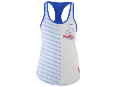 Texas Rangers Nike MLB Women's Coop Striped Tank