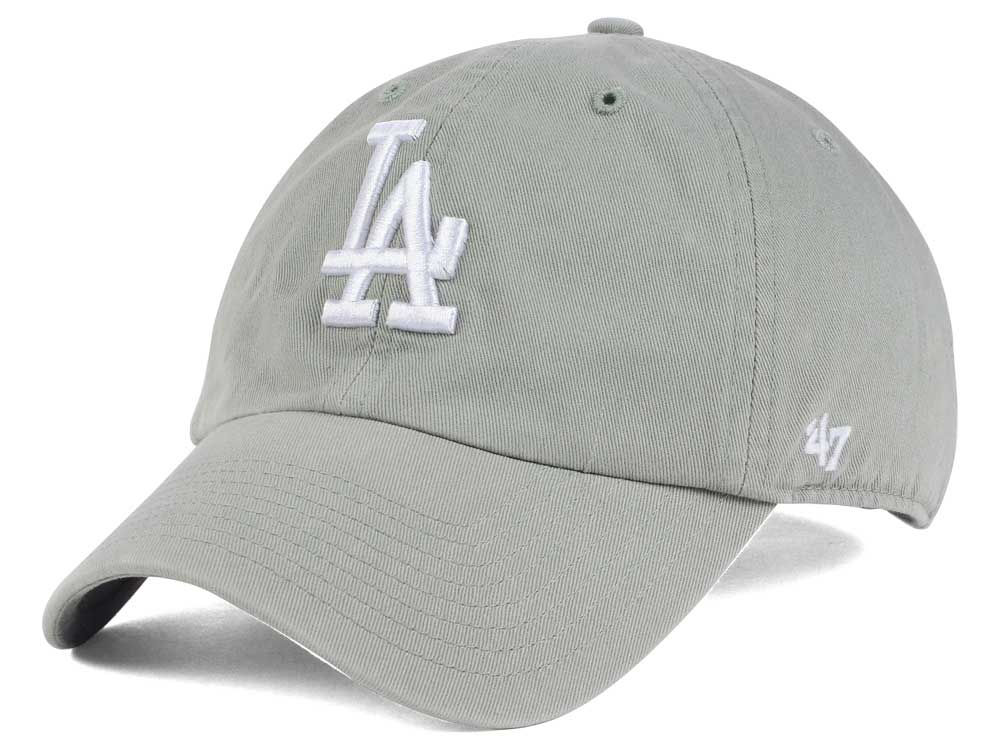 Los Angeles Dodgers  47 MLB Gray White  47 CLEAN UP Cap  868b4016d059
