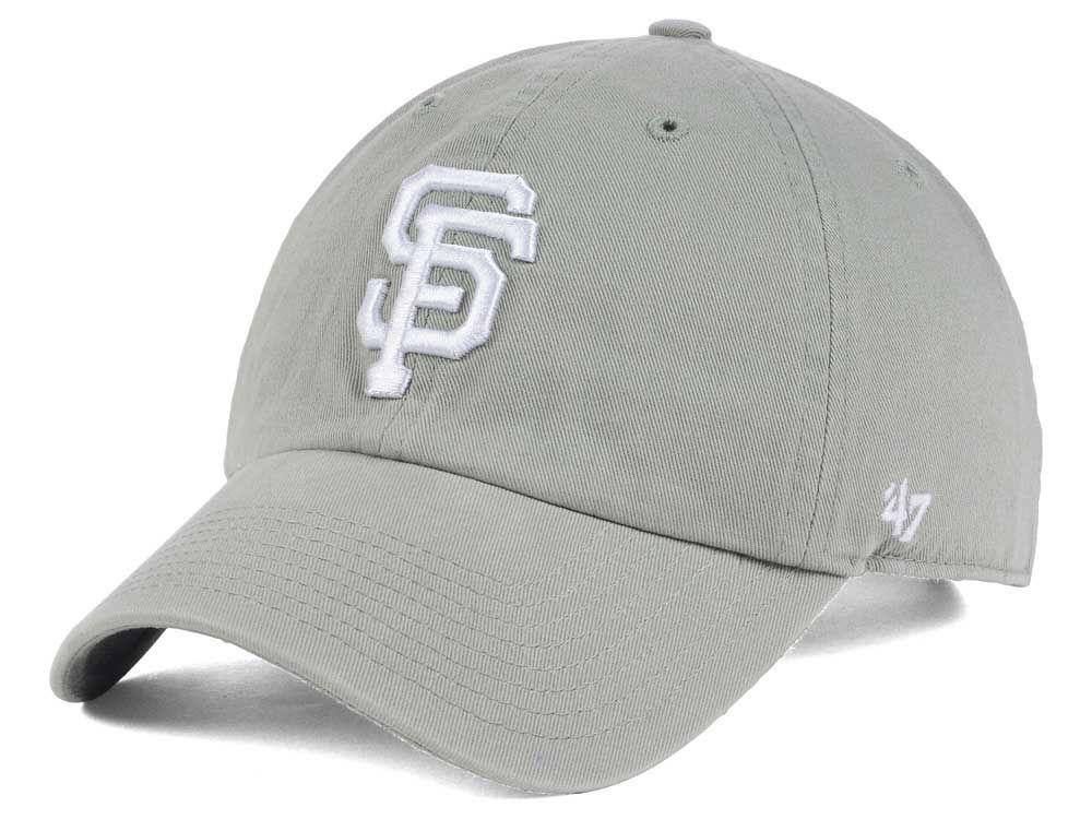 competitive price 8dac6 e916e ... get san francisco giants 47 mlb gray white 47 clean up cap d31a0 104dc