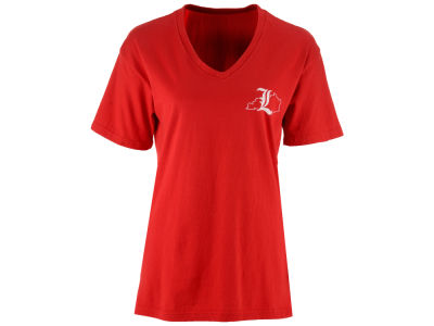 Louisville Cardinals Pressbox NCAA Women's Elly May Big T-Shirt