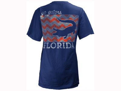 Florida Gators Pressbox NCAA Women's Blocked Chevron V Big T-Shirt