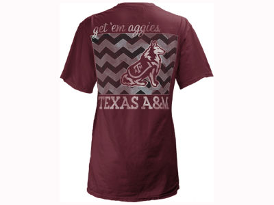 Texas A&M Aggies Pressbox NCAA Women's Blocked Chevron V Big T-Shirt