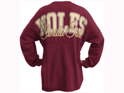 Florida State Seminoles Pressbox NCAA Women's Seer Sweeper Long Sleeve T-Shirt
