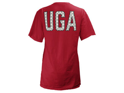 Georgia Bulldogs Pressbox NCAA Women's Quatre Logo Big T-Shirt