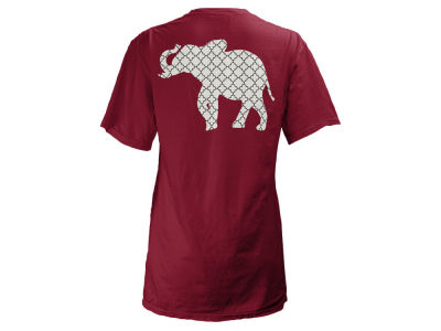 Alabama Crimson Tide Pressbox NCAA Women's Quatre Logo Big T-Shirt