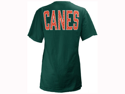 Miami Hurricanes Pressbox NCAA Women's Quatre Logo Big T-Shirt