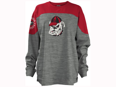 Georgia Bulldogs Pressbox NCAA Women's Cannon Big Long Sleeve Shirt