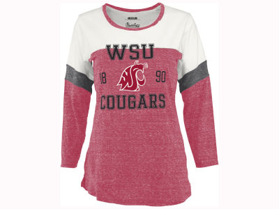 Washington State Cougars Pressbox NCAA Women's Hanoi Long Sleeve T-Shirt