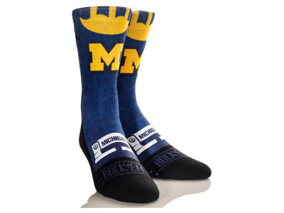 Michigan Wolverines Helmet Series Socks