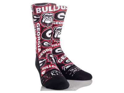 Georgia Bulldogs Rock 'Em Logo Sketch Socks