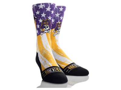 East Carolina Pirates Rock 'Em Stars & Stripes Socks