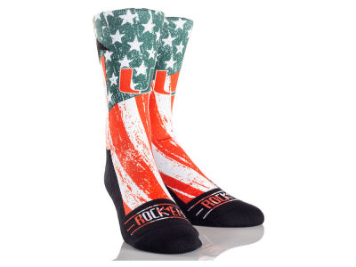 Miami Hurricanes Stars & Stripes Socks