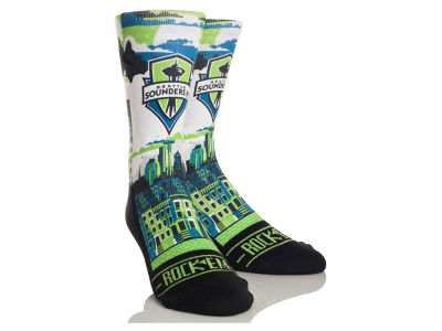 Seattle Sounders FC Rock 'Em City Skyline Socks