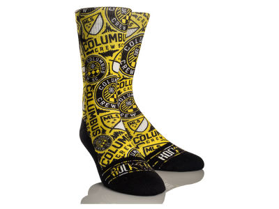 Columbus Crew SC Rock 'Em Logo Sketch Socks