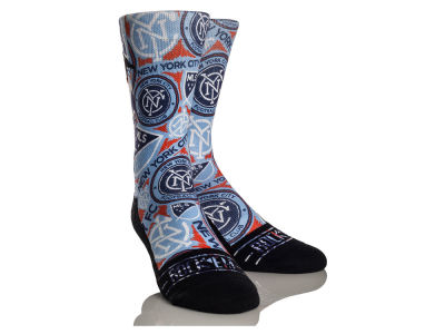 New York City FC Rock 'Em Logo Sketch Socks