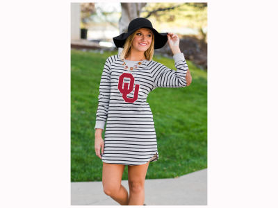 Oklahoma Sooners NCAA Women's Striped French Terry Tunic
