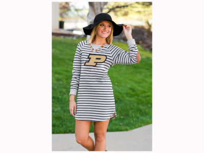 Purdue Boilermakers Gameday Couture NCAA Women's Striped French Terry Tunic